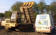 Tracked Dumper Hire UK service vehicle